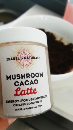 Mushroom cacao lattee